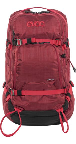 Evoc Line 28L rugzak rood